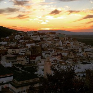 Sunset over Moulay Idriss