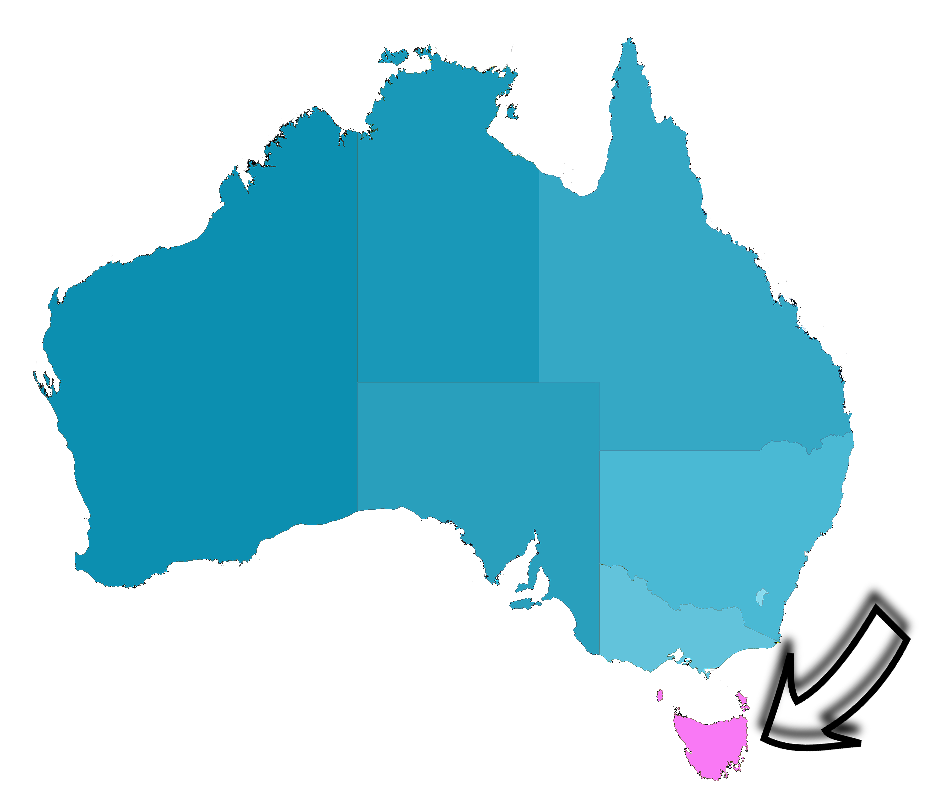 Tasmania Map Australia London Map - World map highlighting australia