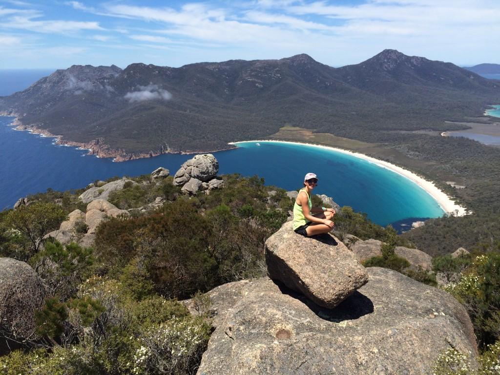 Photo of Wineglass Bay taken from Mt Amos