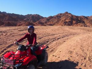 Quad biking in the hills of Dahab