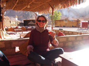Drinking tea in a Bedouin Camp