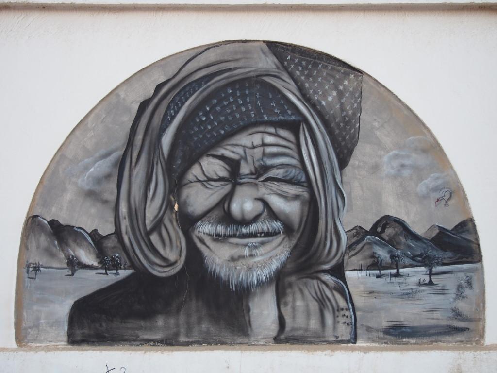 Dahab Street Art: Old Bedouin Man