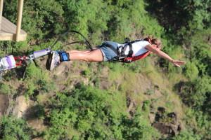 Bungy Jumping at Vic Falls