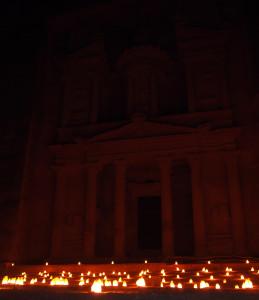 The Treasury at Petra, by night