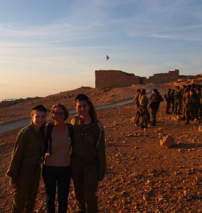 Congratulating the Israeli soldiers on their graduation