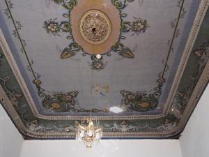 Painted ceiling in the Fauzi Azar Inn