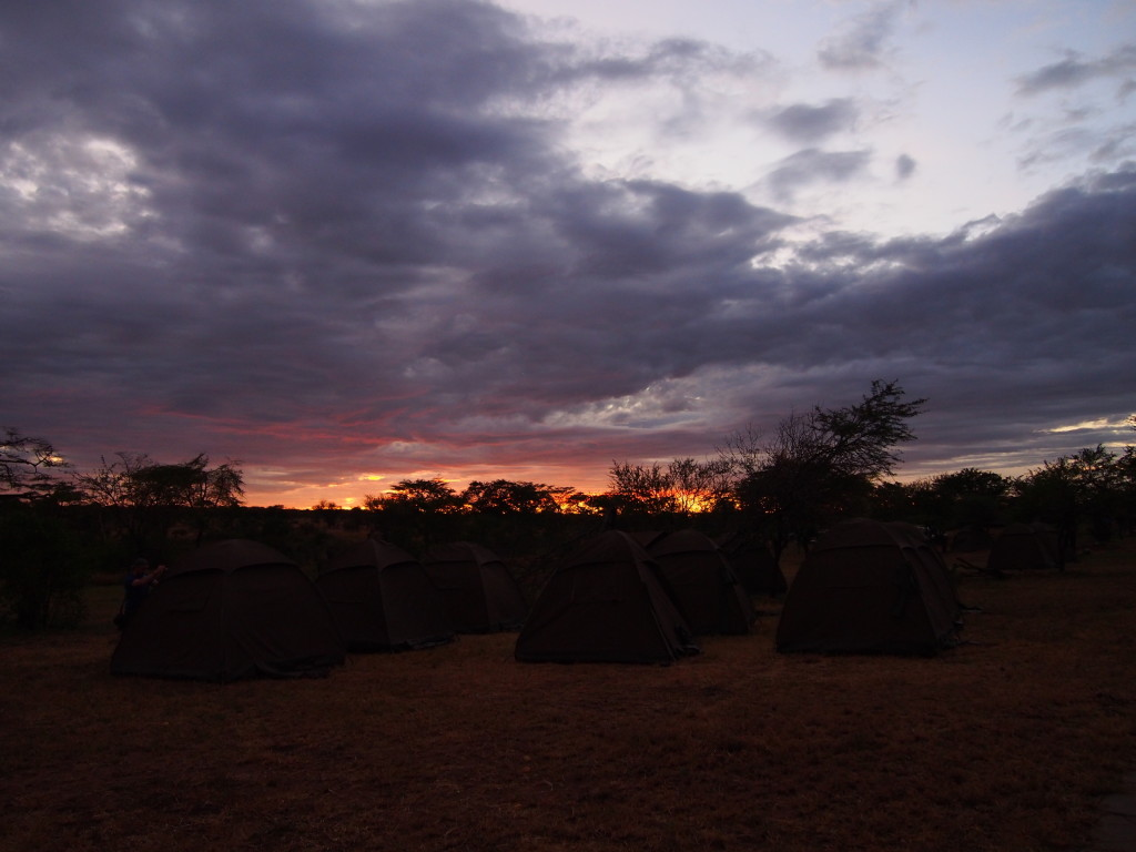 Sunset at our Serengeti Campsite