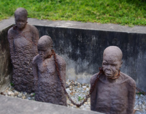 Sculpture representing the slave market in Stone Town