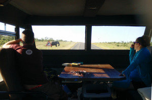 View from the ATC truck