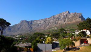 Table Mountain viewed from the top of the City Bus