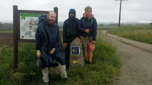 Hannah, Will and Allan Walking to Finisterre