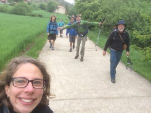 Making friends on the camino