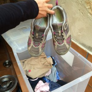 Throwing out hiking shoes