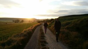 Sunrise leaving Hornillos del Camino