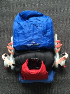 Front view of items as they would be packed
