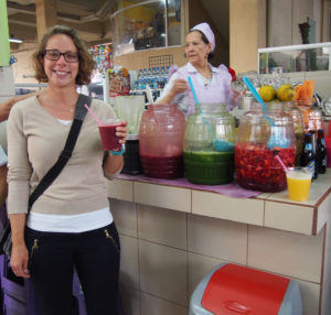 Fresh juice at the central market