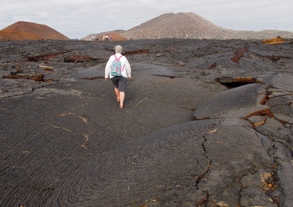 Cooled Lava Flows on Santiago Island