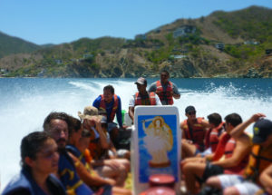 Boat ride from Taganga to Cabo San Juan