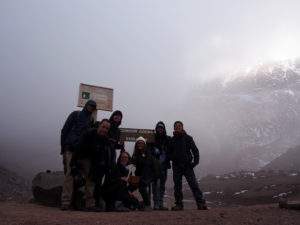 Volunteers hiking Chimborazo