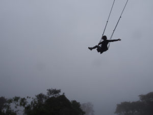 Swinging off the edge of the world