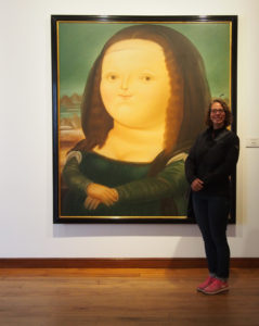 Fatty Mona Lisa at Museo del Botero