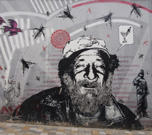 Homeless Person - Political Street Art