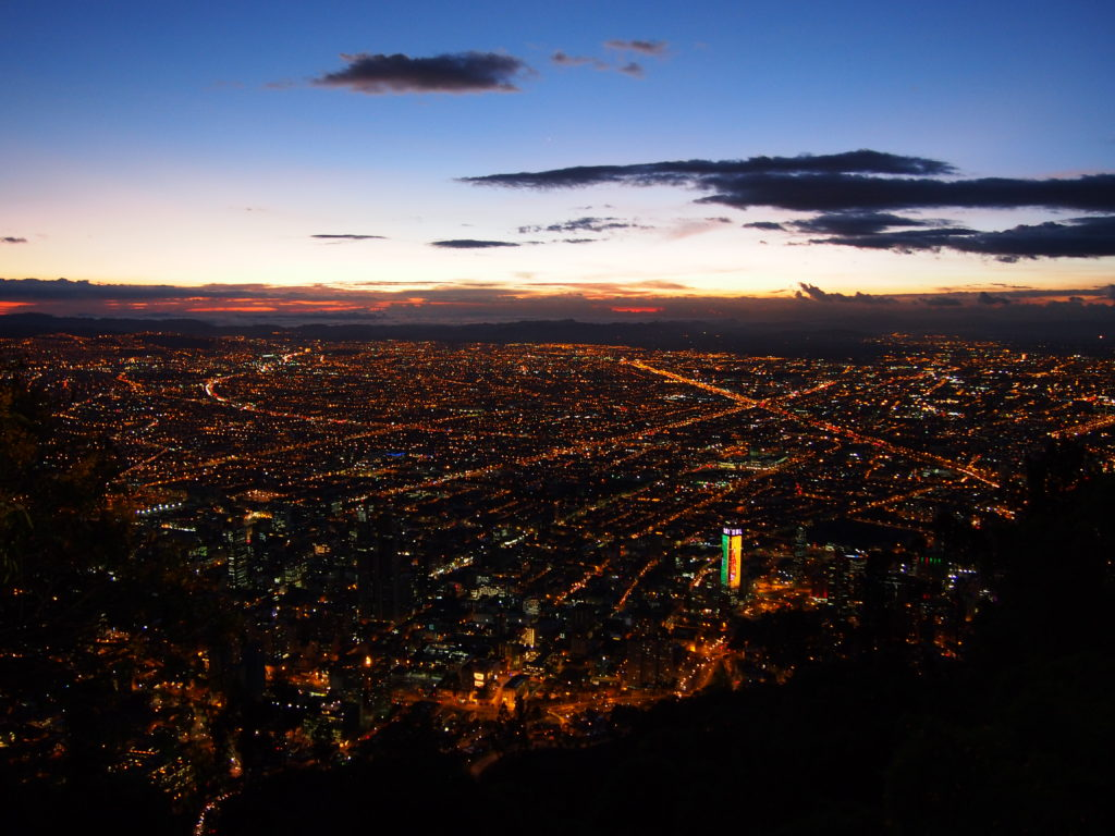 Sunset over Bogota