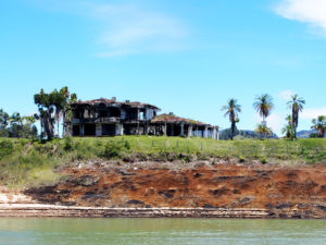 Pablo Escobar's burned out mansion