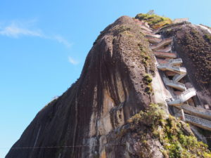 Piedra El Peñol, with the 740 stairs stitched into the rock