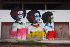 Three Women, Street Art in Getsemani