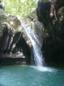 Natural waterslide at the 27 Waterfalls of Damajagua