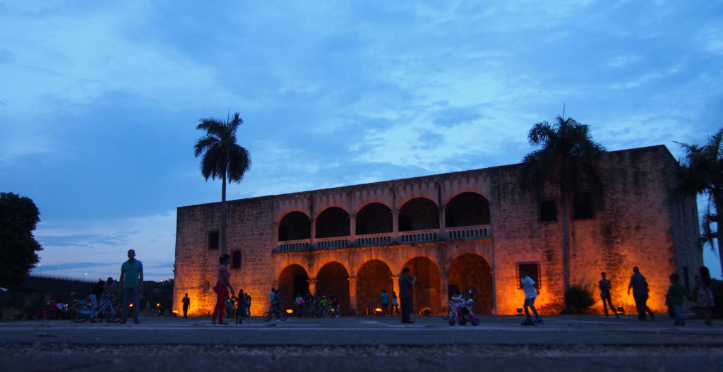 Alcazar de Colon at night