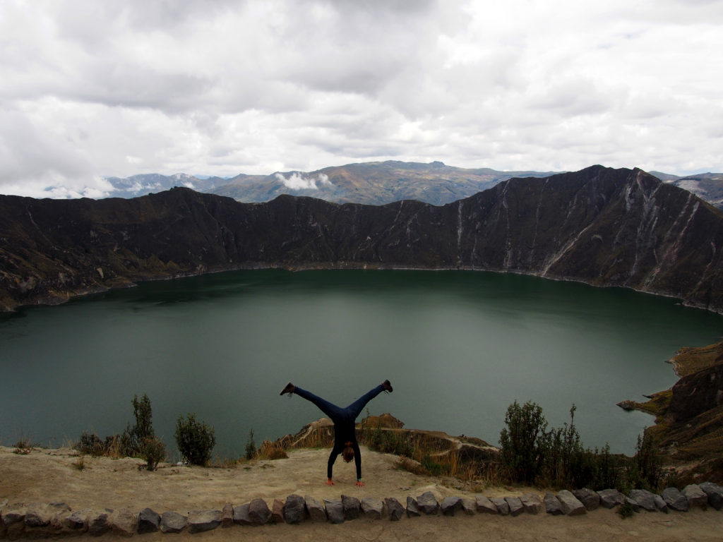 Quilotoa Volcano Crater Lake