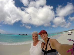 Galapagos Island visit with mum