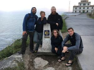 Camino Family at Kilometre Zero in Finisterre