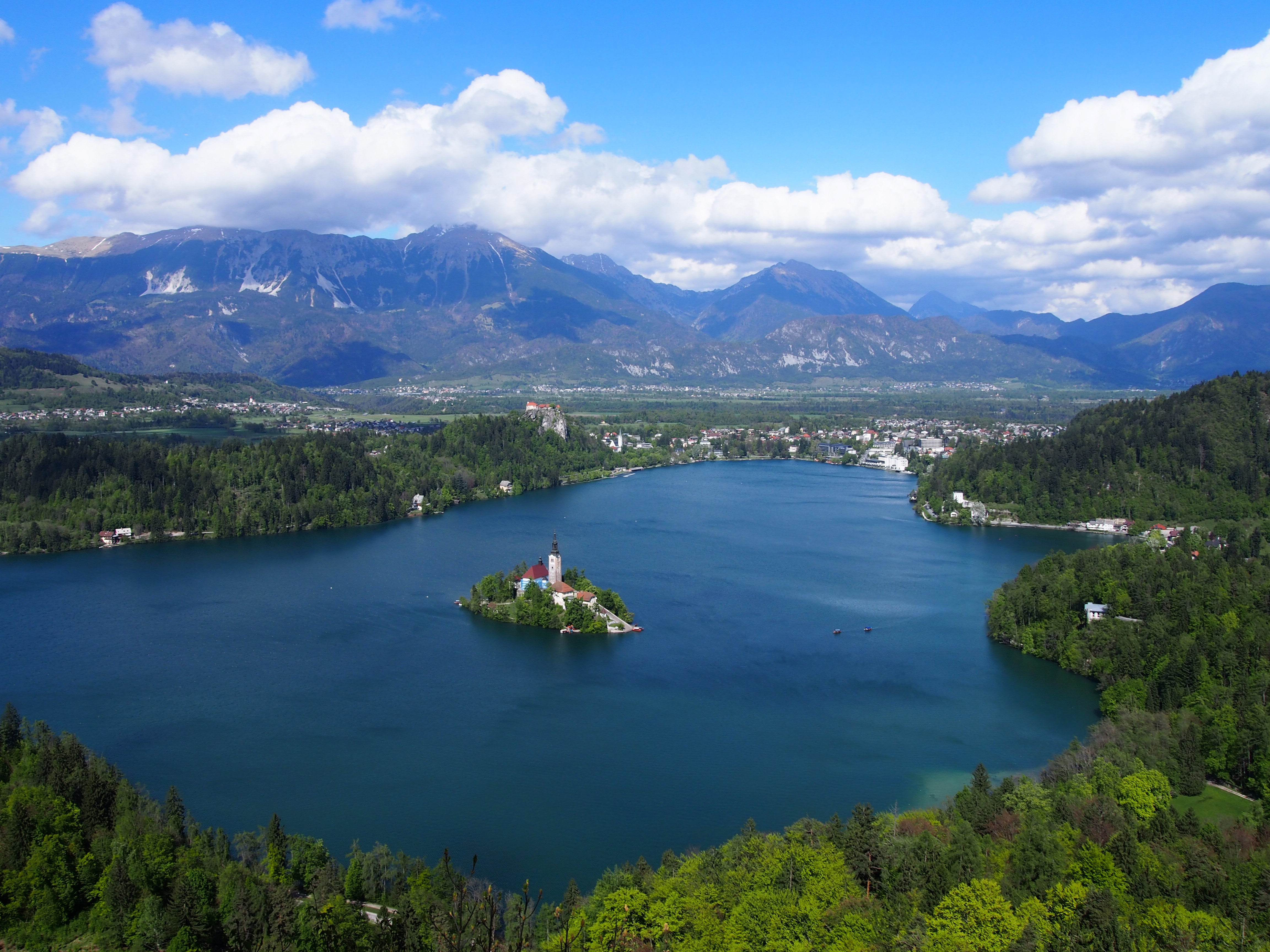 Lake Bled from Mala Osojnica viewpoint, Slovenia