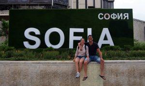 Tourists in Sofia