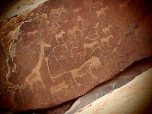 The Lion-Man stone engraving at Twijfelfontein