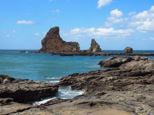 Rocky outcroppings of Play Maderas