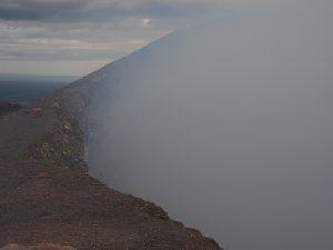 Looking over the rim of active Telica Volcano